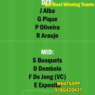 EIB vs BAR Dream11 Team fantasy Prediction LaLiga Santander