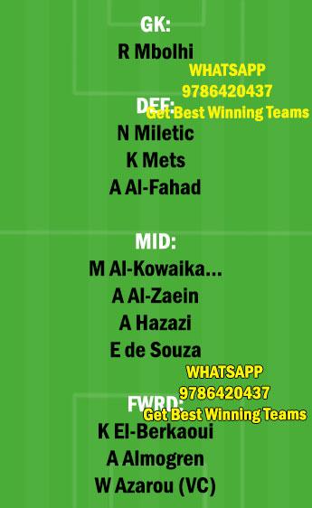 ETT vs RAE Dream11 Team fantasy Prediction Saudi Arabian League