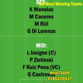 FIO vs NAP Dream11 Team fantasy Prediction Serie A