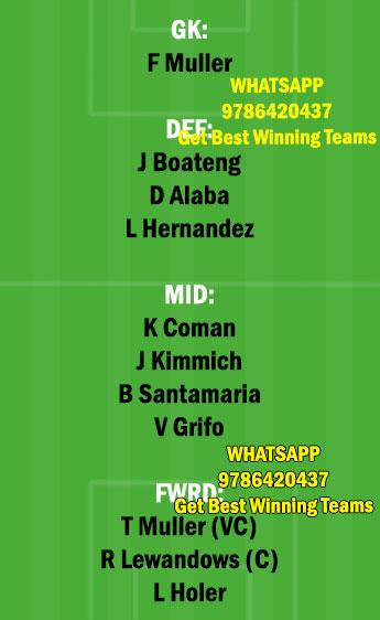 FRB vs BAY Dream11 Team fantasy Prediction Bundesliga