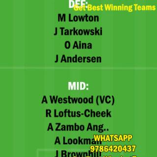 FUL vs BUR Dream11 Team fantasy Prediction Premier League
