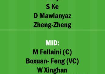 HN vs SHD Dream11 Team fantasy Prediction Chinese super League