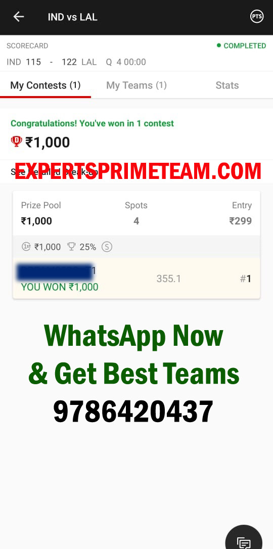 IND-VS-LAL-Dream11-Results-