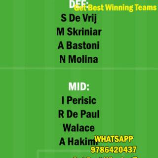 INT vs UDI Dream11 Team fantasy Prediction Serie A