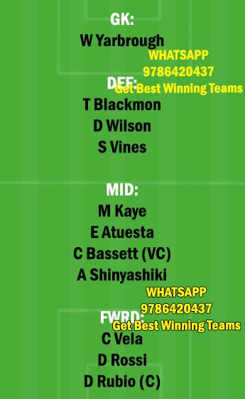 LAF vs CR Dream11 Team fantasy Prediction Major League Soccer