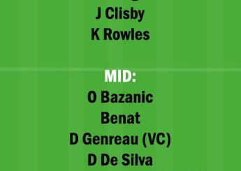 MAC vs CCM Dream11 Team fantasy Prediction A League