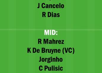 MCI vs CHE Dream11 Team fantasy Prediction Premier League