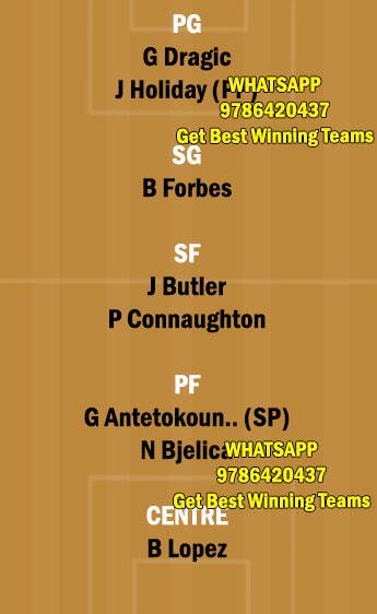 MIA vs MIL Dream11 Team fantasy Prediction NBA (2)