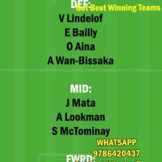 MUN vs FUL Dream11 Team fantasy Prediction Premier League
