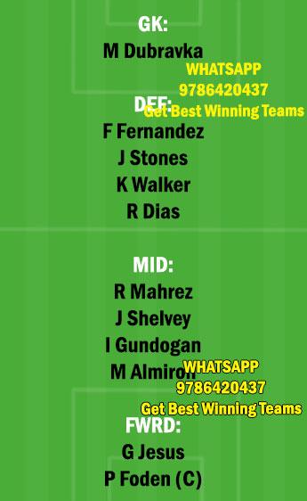 NEW vs MCI Dream11 Team fantasy Prediction Premier League
