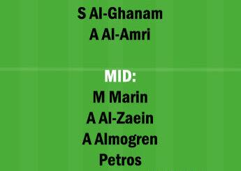 NSSR vs RAE Dream11 Team fantasy Prediction Saudi Arabian League