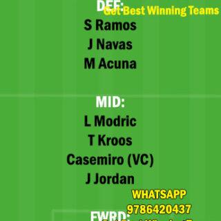 RM vs SEV Dream11 Team fantasy Prediction LaLiga Santander
