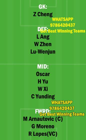 SHN vs SHGP Dream11 Team fantasy Prediction Chinese Super League