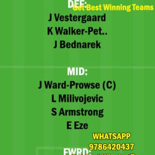 SOU vs CRY Dream11 Team fantasy Prediction Premier League