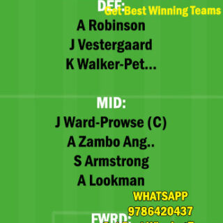 SOU vs FUL Dream11 Team fantasy Prediction Premier League