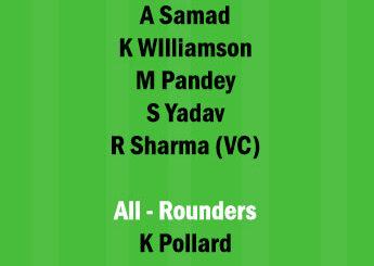 SRH vs MI 31st Match Dream11 Team fantasy Prediction IPL 2021