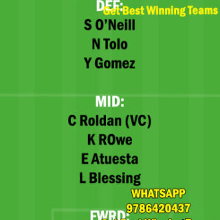 SS vs LAF Dream11 Team fantasy Prediction Major League Soccer