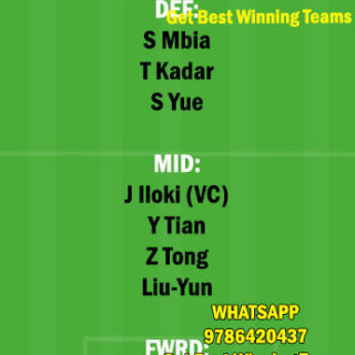 TNJ vs WHN Dream11 Team fantasy Prediction Chinese Super League