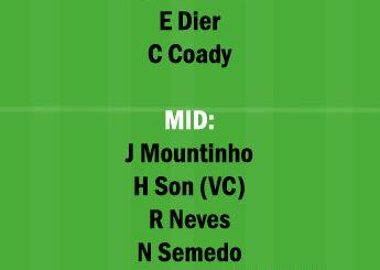 TOT vs WOL Dream11 Team fantasy Prediction Premier League