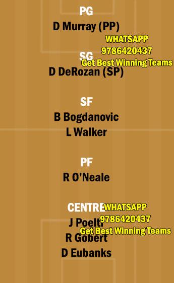 UTA vs SAS Dream11 Team fantasy Prediction NBA