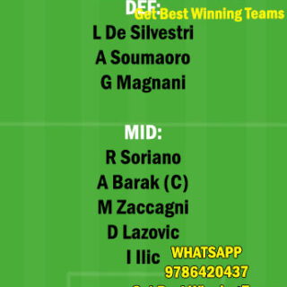 VER vs BOG Dream11 Team fantasy Prediction Serie A