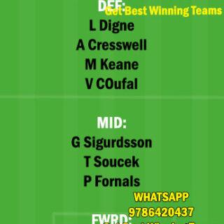 WHU vs EVE Dream11 Team fantasy Prediction Premier League