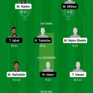 AL vs PBCC 31st Match Dream11 Team fantasy Prediction Dhaka T20