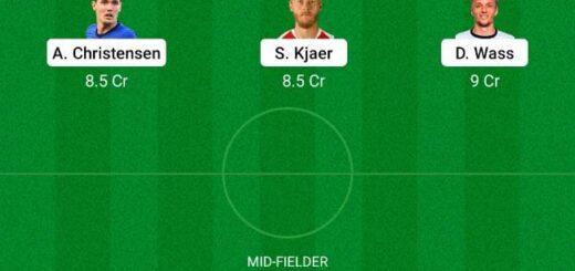 DEN vs FIN Dream11 Team fantasy Prediction Euro