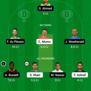 ISL vs QUE 19th Match Dream11 Team fantasy Prediction Super League T20