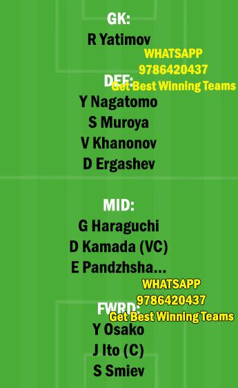 JPN vs TAJ Dream11 Team fantasy Prediction World Cup Qualifiers