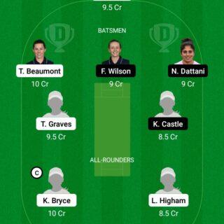 LIG vs SUN 15th Match Dream11 Team fantasy Prediction England Womens ODD
