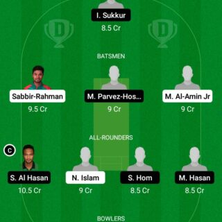 LOR vs MSC 27th Match Dream11 Team fantasy Prediction Dhaka T20