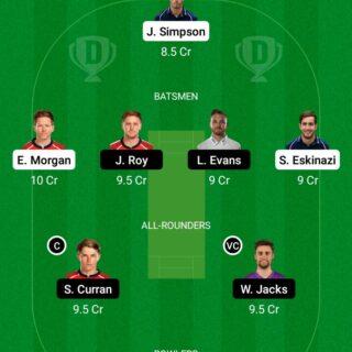 MID vs SUR 8th Match Dream11 Team fantasy Prediction English T20 Blast