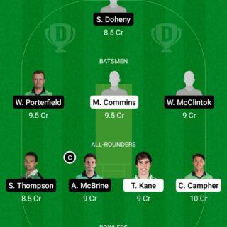 MUR vs NWW 11th Match Dream11 Team fantasy Prediction Ireland Inter-Provincial ODD