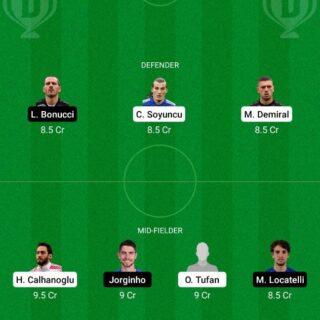 TUR vs ITA Dream11 Team fantasy Prediction Euro