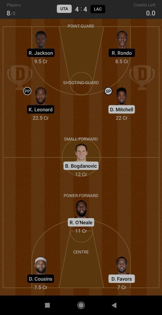 UTA vs LAC Dream11 Team fantasy Prediction NBA (2)