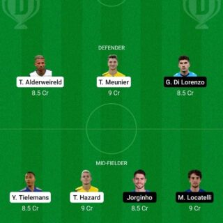 BEL vs ITA Dream11 Team fantasy Prediction Euro