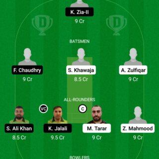 BOT vs PF 9th Match Dream11 Team fantasy Prediction FanCode ECS T10-Sweden