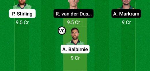 IRE vs SA 1st ODI Match Dream11 Team fantasy Prediction South Africa tour of Ireland