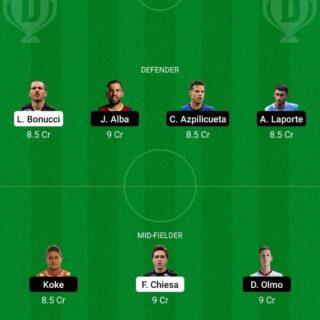 ITA vs SPN Dream11 Team fantasy Prediction Euro