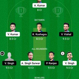 JAM vs BOK 10th T20 Match Dream11 Team fantasy Prediction BYJU's Jharkhand T20