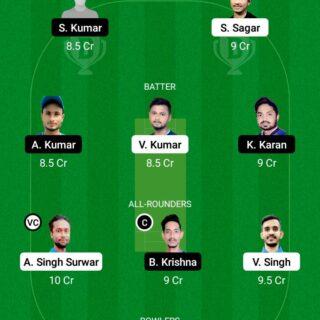 JAM vs SIN 18th Match Dream11 Team fantasy Prediction BYJU's Jharkhand T20