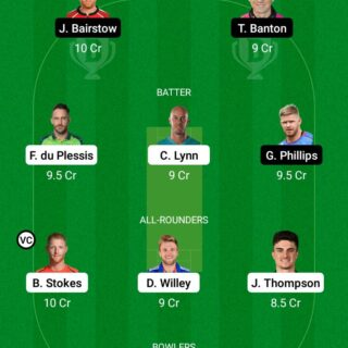 NOS vs WEF 4th Match Dream11 Team fantasy Prediction The Hundred Men