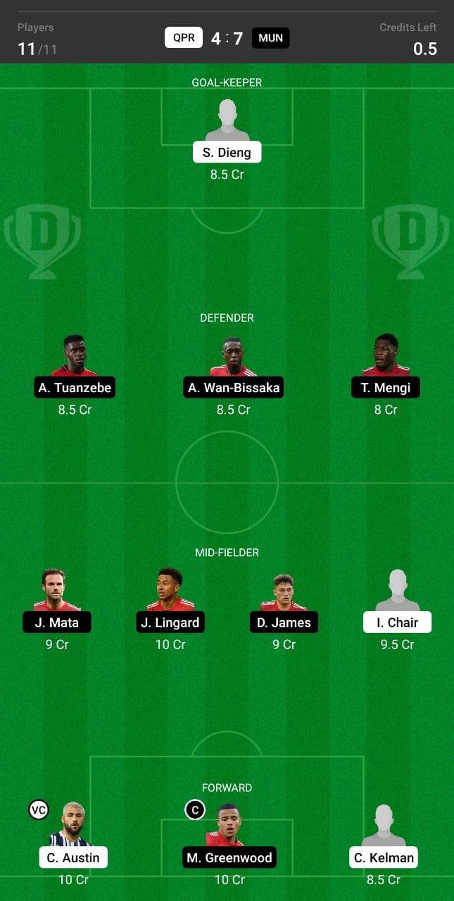 QPR vs MUN Dream11 Team fantasy Prediction Club Friendlies