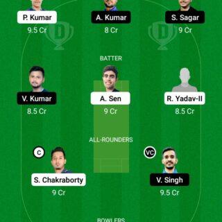RAN vs JAM 14th Match Dream11 Team fantasy Prediction BYJU's Jharkhand T20