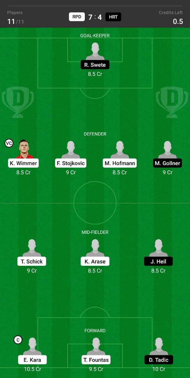 RPD vs HRT Dream11 Team fantasy Prediction Austrian League