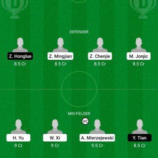 SHN vs WHN Dream11 Team fantasy Prediction Chinese Super League