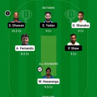SL vs IND 1st ODI Match Dream11 Team fantasy Prediction India tour of Sri Lanka