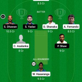 SL vs IND 3rd ODI Match Dream11 Team fantasy Prediction India tour of Sri Lanka