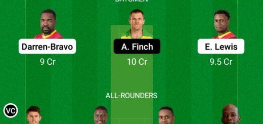 WI vs AUS 1st ODI Match Dream11 Team fantasy Prediction Australia tour of West Indies
